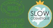 Produits labellisés Cosmos Organic et Slow Cosmétique