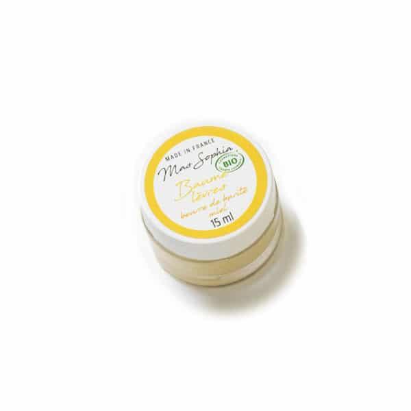 Baume lèvres au beurre de karité et miel